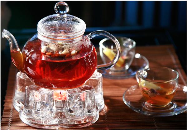 Rose bud tea